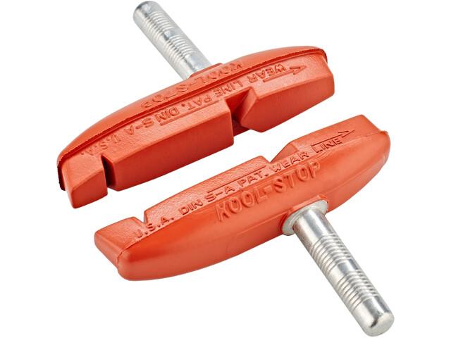 Kool Stop Eagle Claw 2 Remblokken voor cantilever remmen, rood